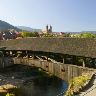 Holzbrücke in Forbach.