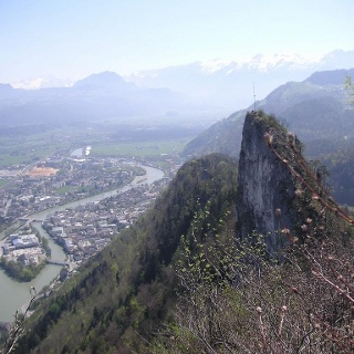 Kleiner Barmstein über Hallein vom Großen Barmstein