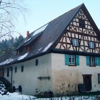 Die Guggenmühle ist ein markanter Punkt unserer Tour.