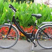 Fahrradverleih in der Wandelhalle