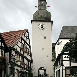 Der Glockenturm in Arnsberg.