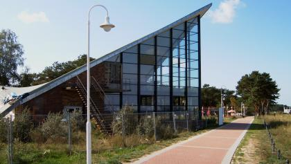 """Die """"Ostseeperle"""" aus Zeiten der DDR besitzt eine außergewöhnliche Architektur."""
