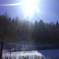 Die Sonne begleitet uns auf unserem Weg.
