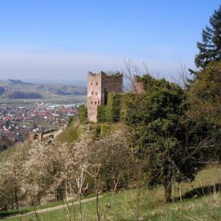 Ruine Schauenburg über dem Renchtal.
