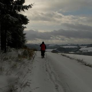Auf dem Plateau vor Dasburg