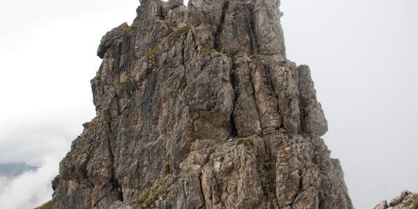 Lange Leiter am Hindelanger Klettersteig