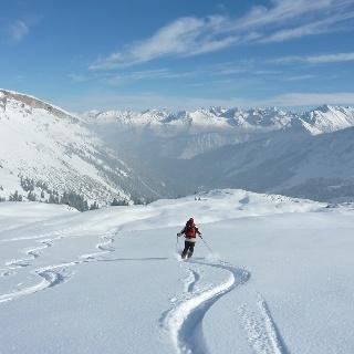Ski-Abfahrt am Hehlekopf