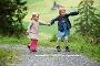 Kurzweiliges Wandern, ist für die Kids wichtig!