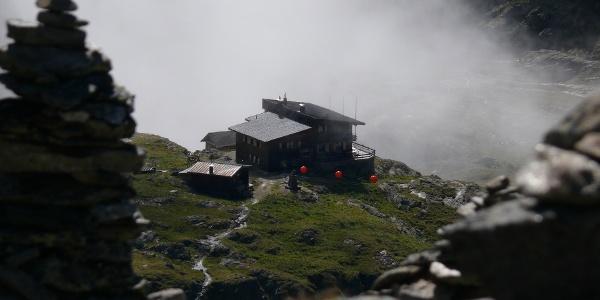 Nebelstimmung an der Wangenitzseehütte