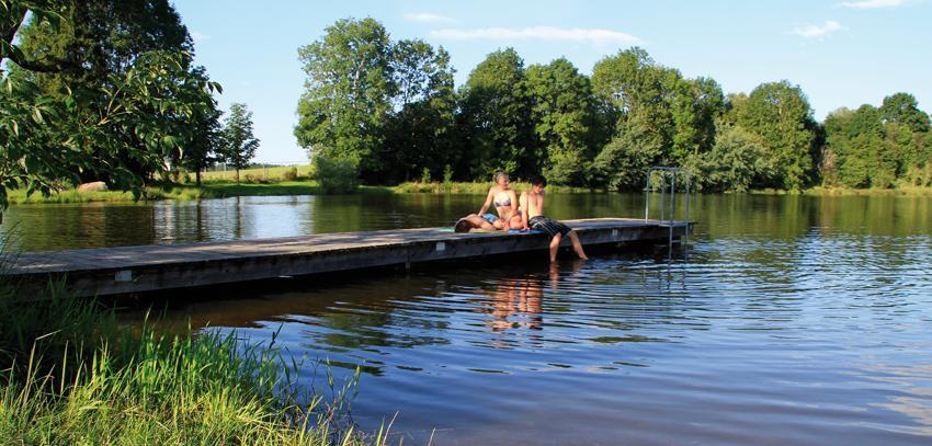 Ausgelassenes Badevergnügen am Bismarckweiher ()