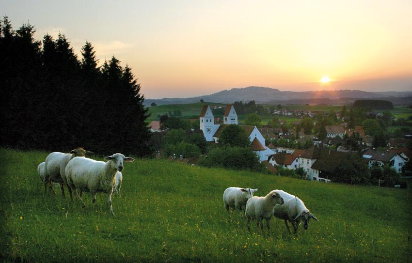 Abendstimmung über Steingaden (Andreas Klausmann)