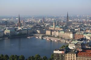 Foto Die Binnenalster in Hamburg
