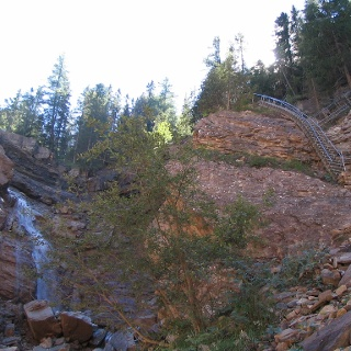 Der Butterloch-Wasserfall.