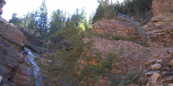 Der Butterloch-Wasserfall