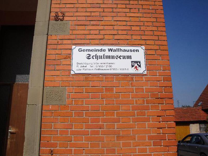 Das Museum kann nach Vereinbarung eines Termins mit Roland Jakel jederzeit besichtigt werden.   - © Quelle: Gemeinde Wallhausen