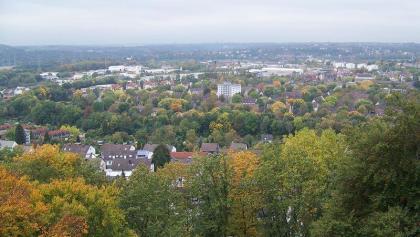 Blick über Hattingen vom Bismarkturm.
