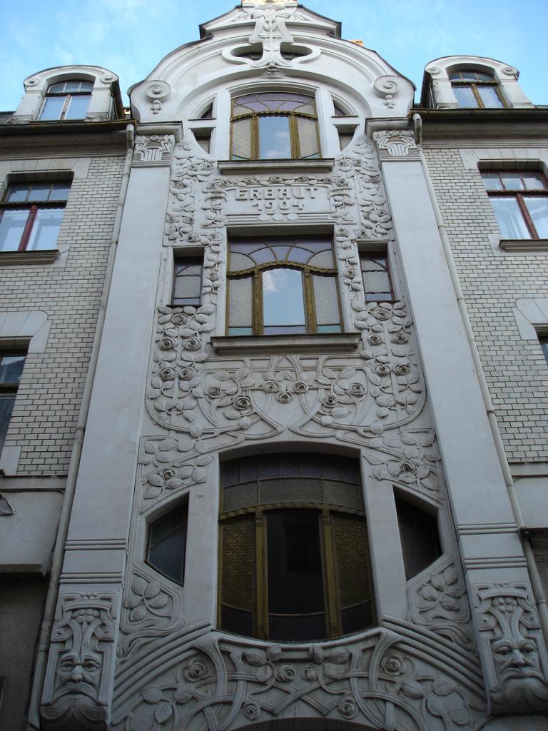 Jugendstilfassade in der Burgstraße