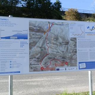 Starttafel Panoramaweg Südalpen, Gasthof Matschnig