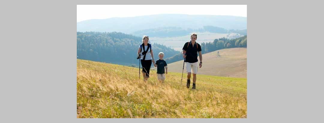 Rund um Willingen genießen Familien die vielfältigen Wandermöglichkeiten.