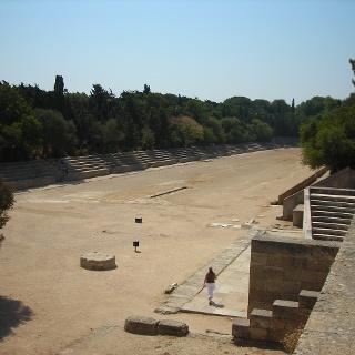 Antikes Stadio am Monte Smith Rhodos.