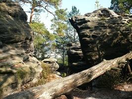 Foto Wir wandern durch die schönen Felsformationen der Rauensteine.