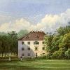 Das Schloss Alt Madlitz gemalt um 1860.