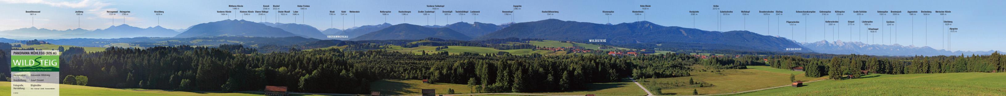 Alpenpanorama in Wildsteig (Gemeinde Wildsteig)