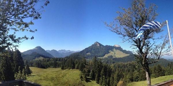 Ausblick von der Wagner-Alm auf den Heuberg