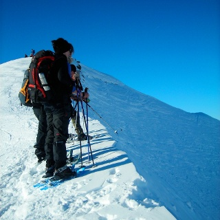 Am Gipfelgrat.