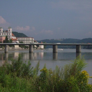 Blick auf Passau am Inn.