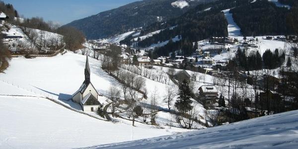Ausblick auf die Kirche St. Kathrein
