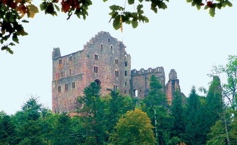 Die Burgruine Hohengeroldseck