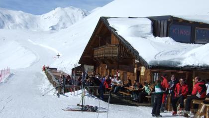 DIe Plantapatsch-Hütte am Watles.