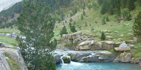 Kaskade des Río Arazas