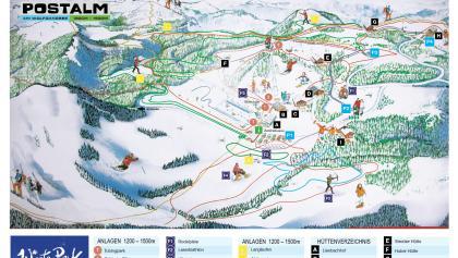 Pistenpanorama Winterpark Postalm