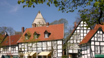"Halle Westfalen, Kirchplatz ""Haller Herz"""