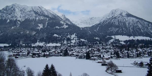 Blick über Oberstdorf.