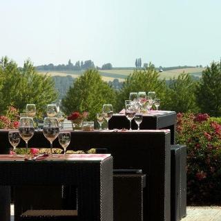 Malerischer Blick von der Terrasse