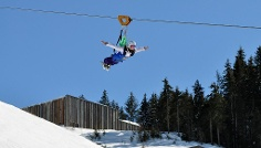 Auch im Winter ist der Flying Fox XXL ein Erlebnis