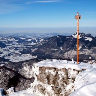 Gipfelstange Spitzplaneck Nord 1595m