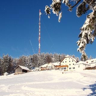 Giselahaus auf 895m mit Sender.