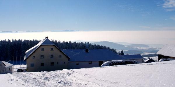 Weitblick über das Giselahaus zum Gr. Priel