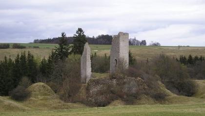 Die Burgruine Bechthal - Namensgeberin unserer Tour.