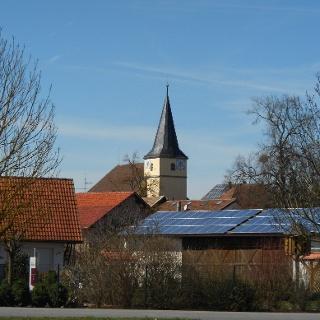 die Untermerzbacher Kirche vom Südosten