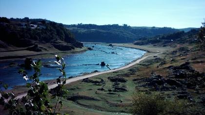El río Miño cerca de Portomarín