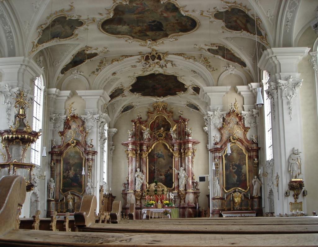 Hochaltar der Barockkirche Hilzingen