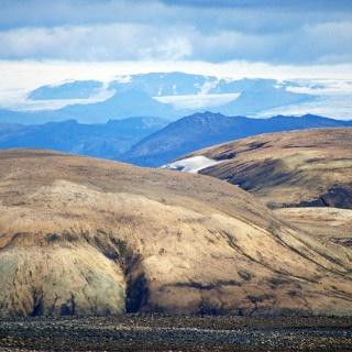 View from Fjallabak to Vatnajökull and Hamarinn