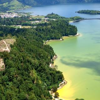 Lago Verde um 520m beim Anstieg gesehen.