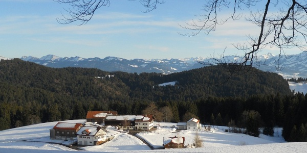 Verschneites Panorama