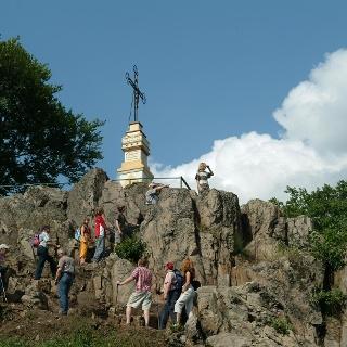 Felsiger Aufstieg zum Gipfel des Litermont